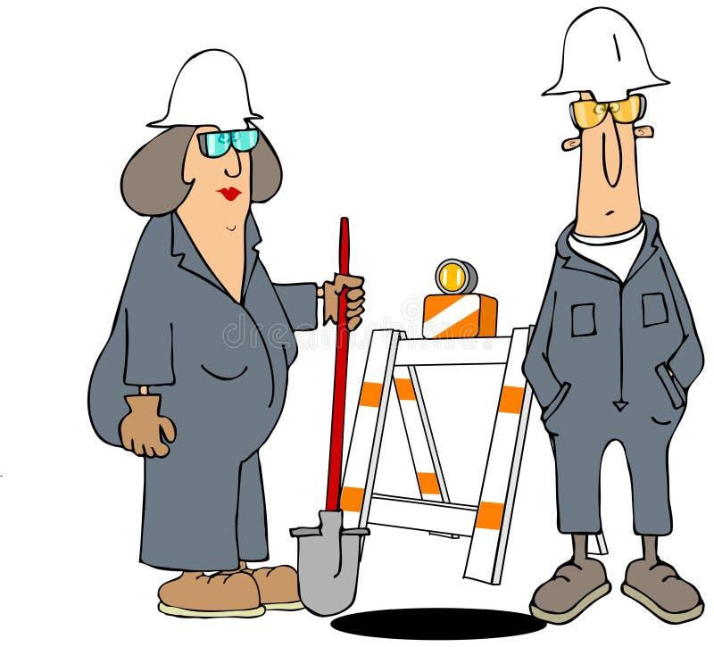 Pracownicy budowlani ilustracja wektor