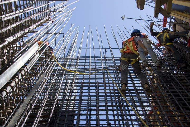 Pracownicy budowlani obrazy royalty free