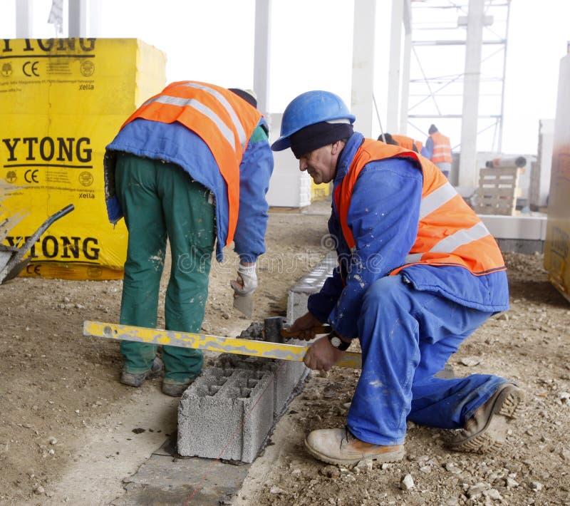 Pracownicy na budowie obrazy royalty free