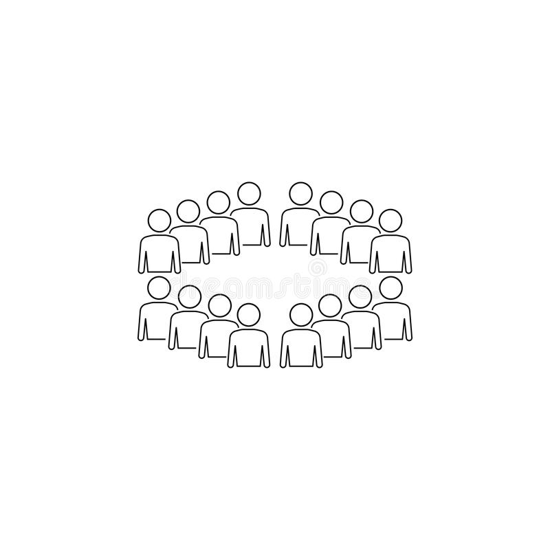 pracownicy organizaci ikona Element biznesowa ikona dla mobilnych pojęcia i sieci apps Cienieje kreskowych pracowników organizat ilustracja wektor