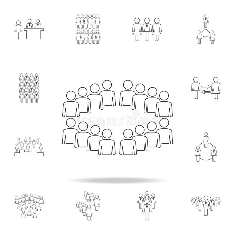 pracownicy organizaci ikona Szczegółowy set ludzie w prac ikonach Premia graficzny projekt Jeden inkasowe ikony dla royalty ilustracja