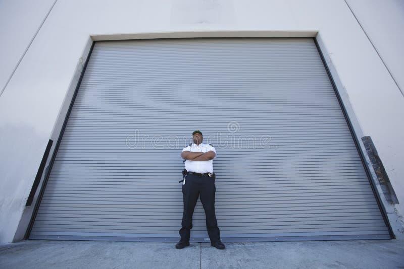 Pracowników Ochrony gaceń Magazynowy wejście zdjęcia royalty free
