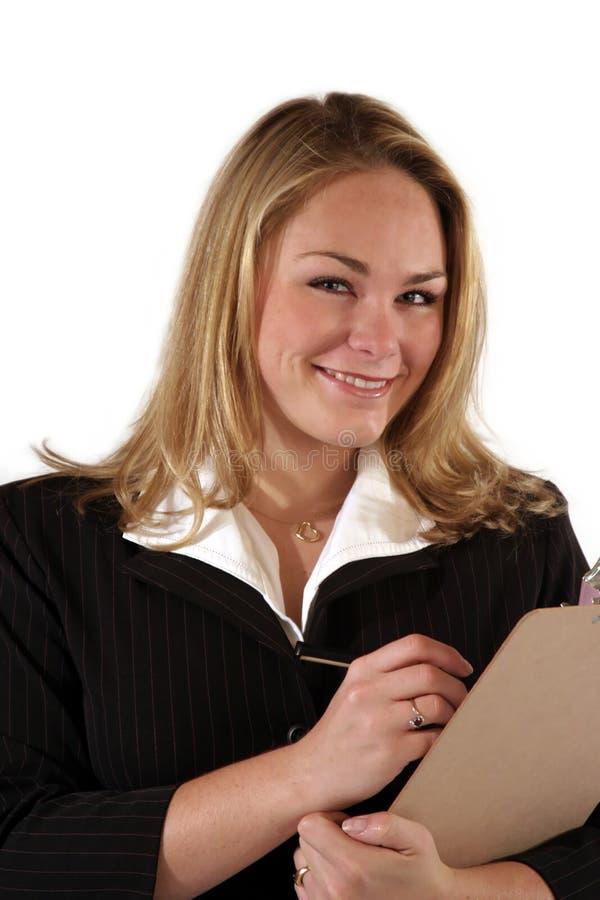 pracownik biurowy uśmiechasz obraz stock