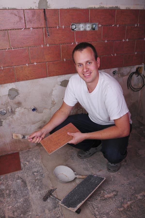 pracownik budowlany fotografia stock