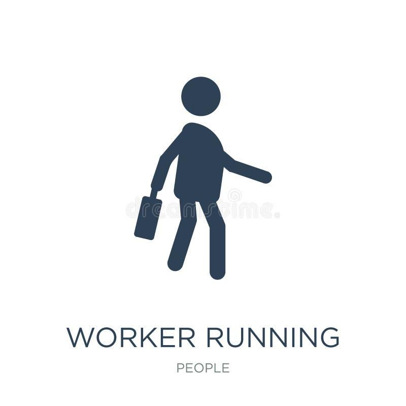 pracownik działająca ikona w modnym projekta stylu pracownik działająca ikona odizolowywająca na białym tle pracownik działająca  ilustracja wektor