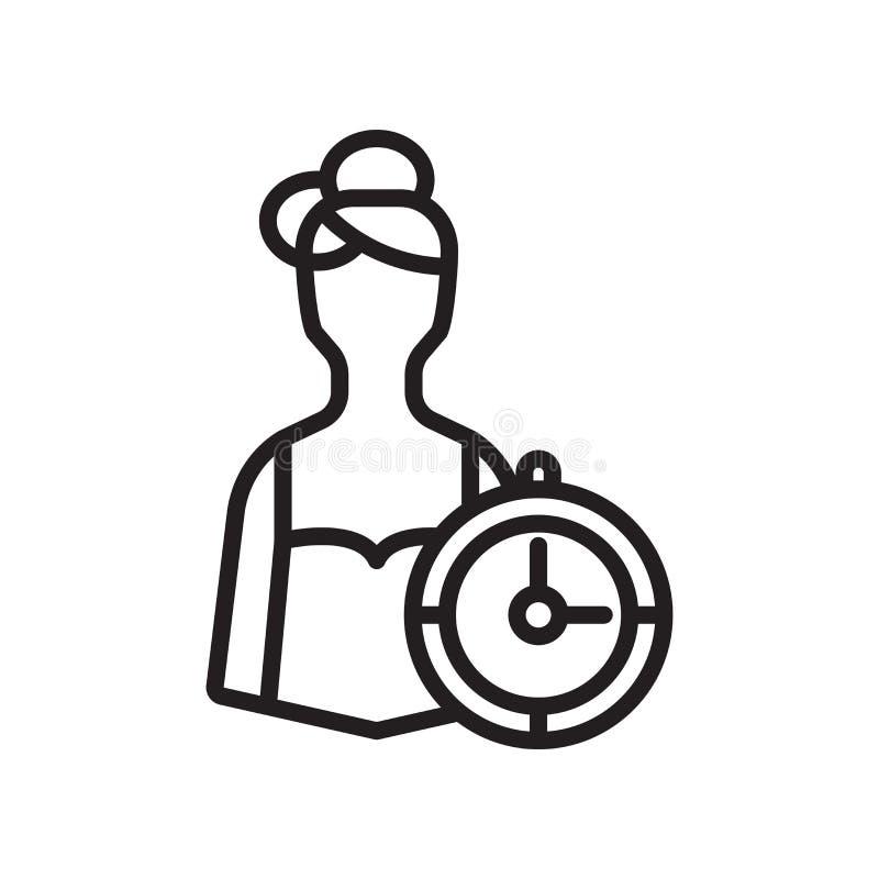 Pracownik ikony wektoru znak i symbol odizolowywający na białym tle, pracownika loga pojęcie royalty ilustracja