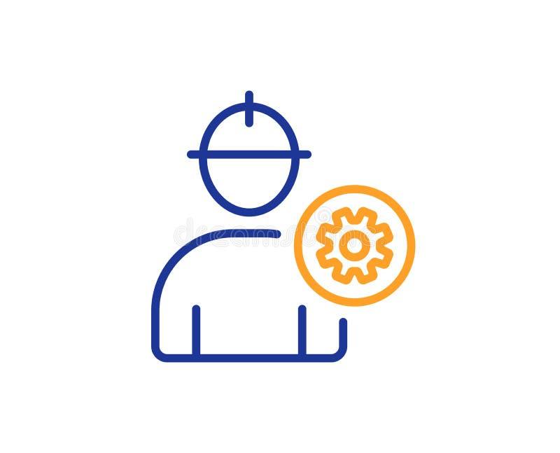 Pracownik kreskowa ikona Samiec profilu znak wektor royalty ilustracja