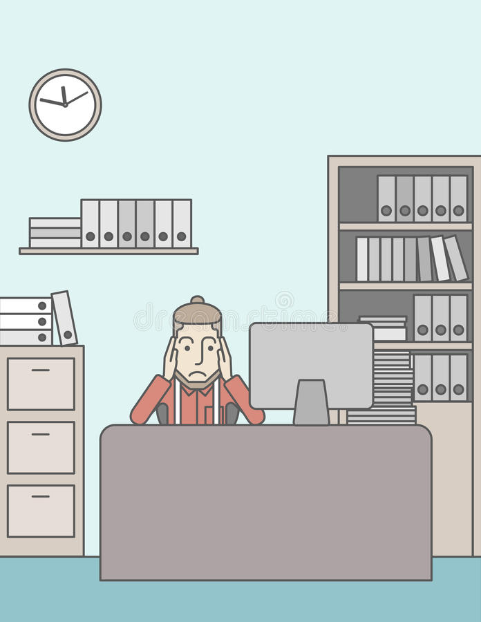 pracownik męczący ilustracji