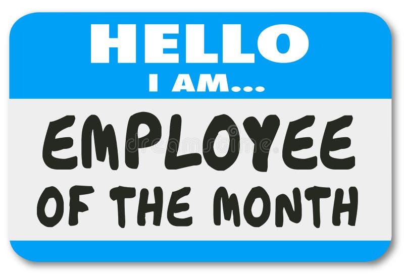 Pracownik miesiąca imienia etykietki majcheru Best wierzchołka pracownik ilustracji