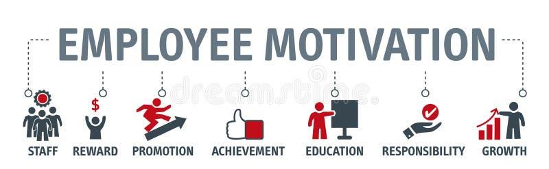Pracownik motywaci zarządzania przedsiębiorstwem ilustracyjny stra ilustracja wektor