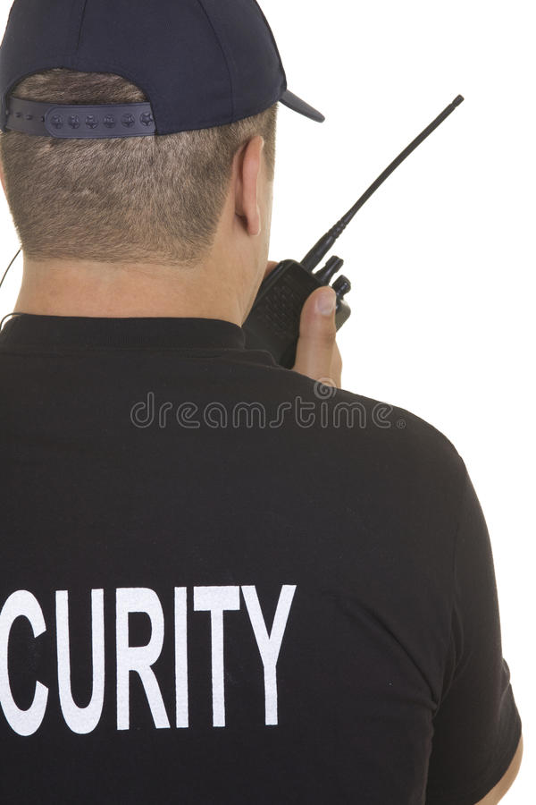 Pracownik ochrony fotografia stock