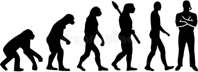 Pracownik ochrony ewolucja ilustracji