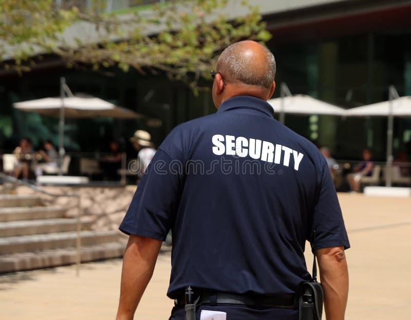 Pracownik ochrony na obowiązku obraz royalty free