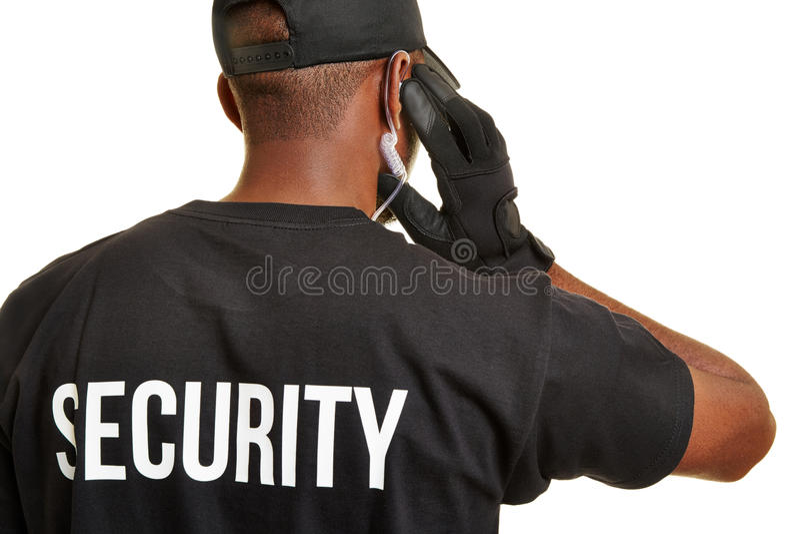 Pracownik ochrony od behind zdjęcie stock