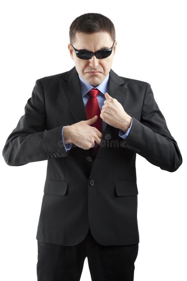 Pracownik ochrony odizolowywający na bielu obrazy stock