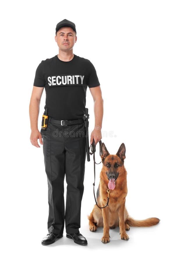 Pracownik Ochrony Z psem obrazy stock
