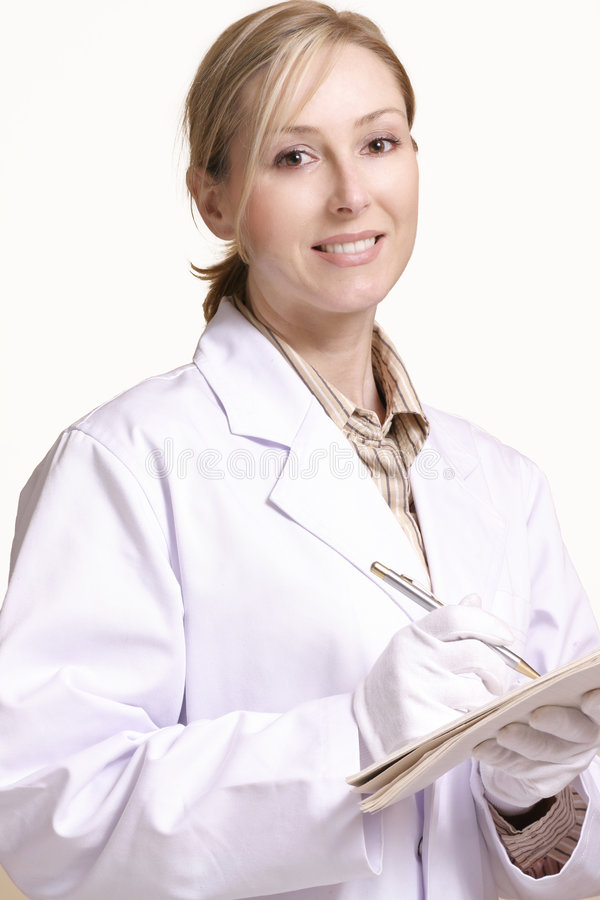 pracownik opieki zdrowotnej uśmiechasz obraz stock
