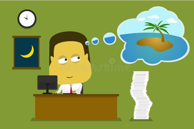 Pracownik potrzeby wakacje royalty ilustracja