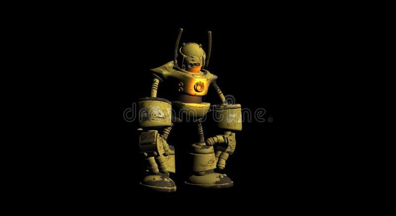 pracownik robotów ilustracji