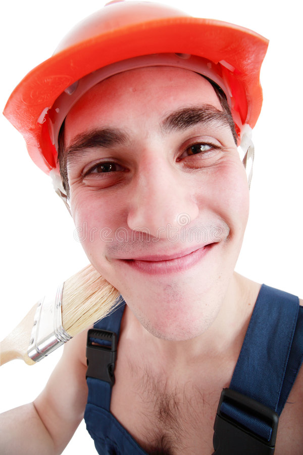 pracownik uśmiechu fotografia royalty free