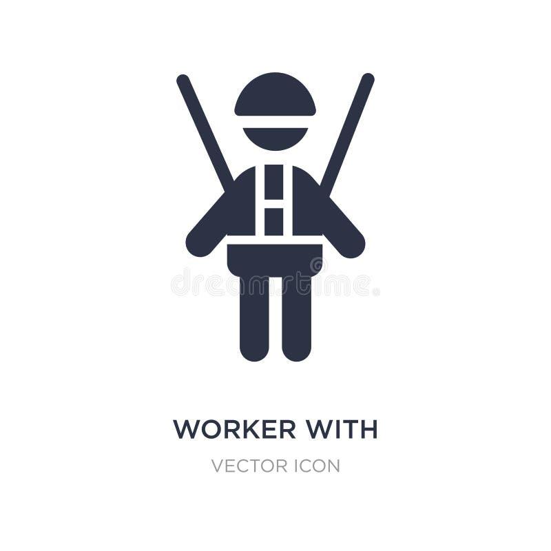 pracownik z nicielnicy ikoną na białym tle Prosta element ilustracja od ludzi pojęć ilustracji