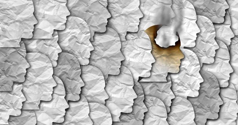 Pracownika Burnout zdrowie Biznesowy Medyczny pojęcie ilustracji