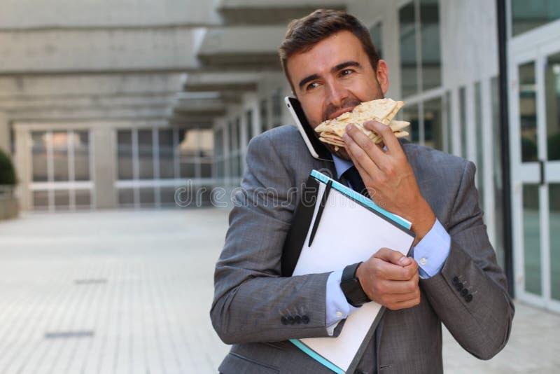 Pracownika multitasking aktywny obraz stock