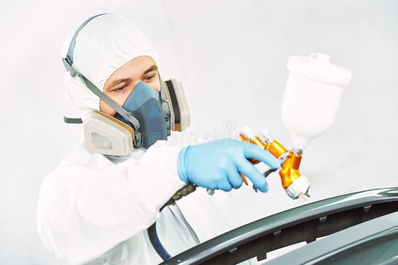 Pracownika obrazu auto samochodowy zderzak obrazy stock