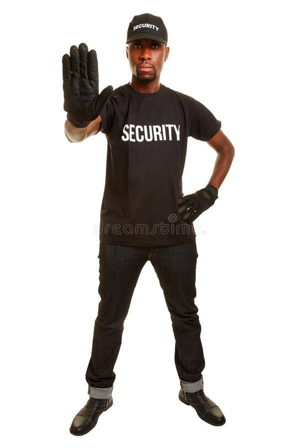 Pracownika ochrony seansu przerwa obrazy stock