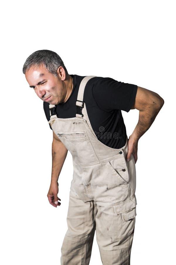 Pracownika specjalisty hydraulik, inżynier lub konstruktor na białym tle, obraz royalty free
