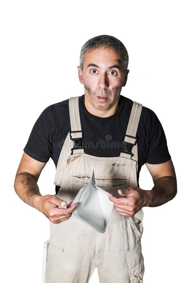 Pracownika specjalisty hydraulik, inżynier lub konstruktor z listem, zdjęcia stock