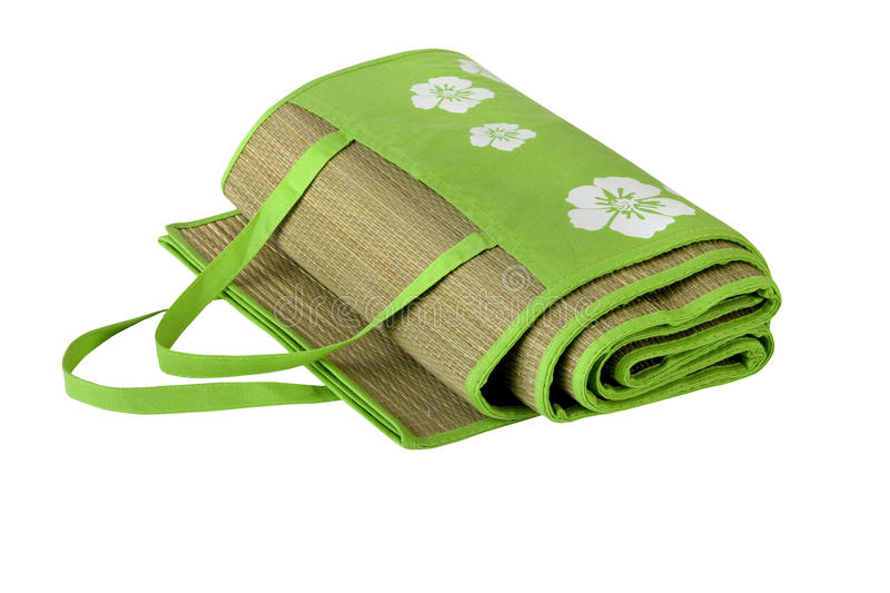 Download Practical Beach Pad With Green Floral Pattern Stock Photo - Image: 25431986