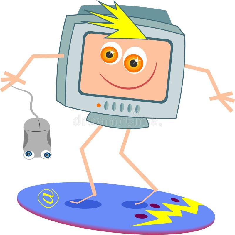 Practicar surf el Internet stock de ilustración
