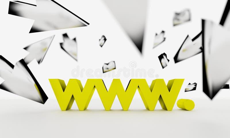 Practicar surf el WWW ilustración del vector