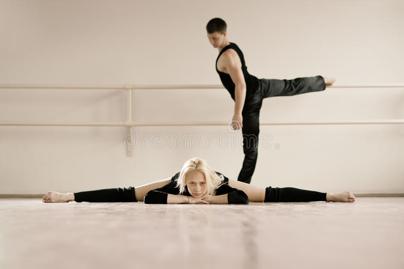Download Practice In Aerobics Room Royalty Free Stock Photos - Image: 25170508