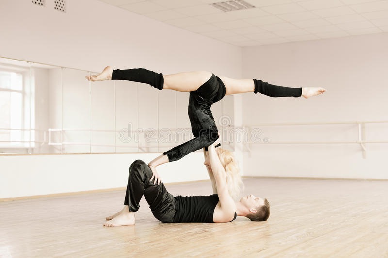 Download Practice In Aerobics Room Royalty Free Stock Photography - Image: 25170667