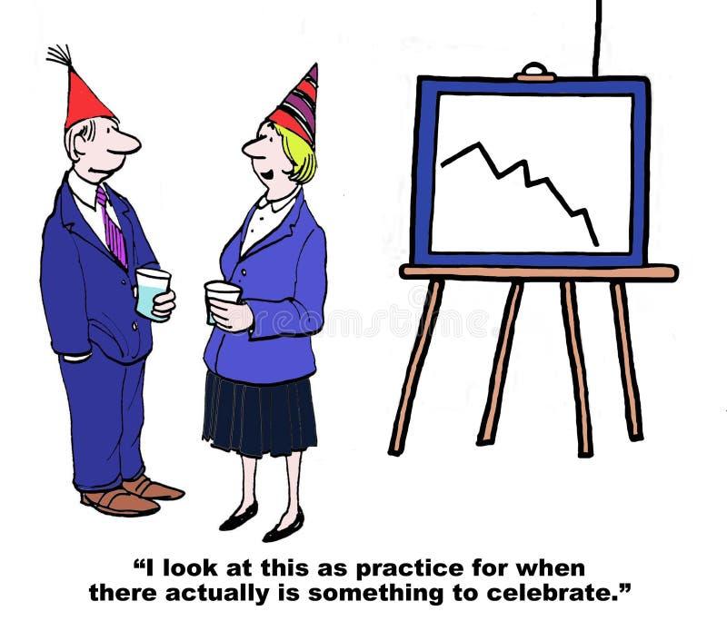 Practice Celebrating stock illustration