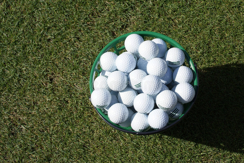 Practice Golf Balls royalty free stock photography