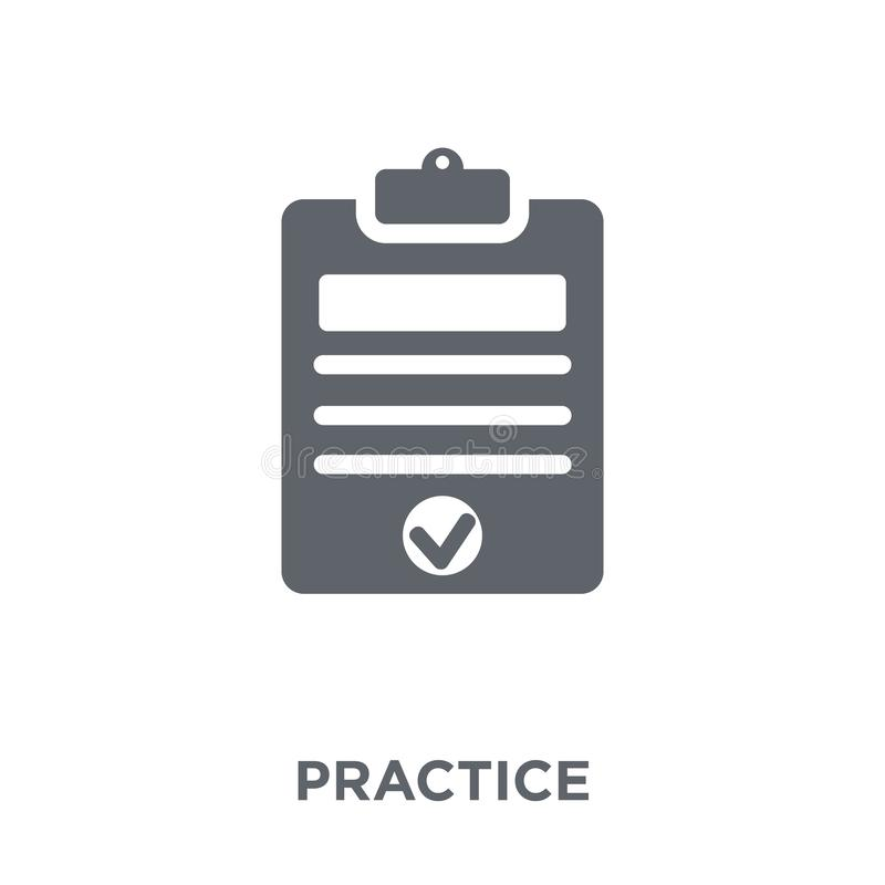 Practice icon from Productivity collection. Practice icon. Practice design concept from Productivity collection. Simple element vector illustration on white vector illustration