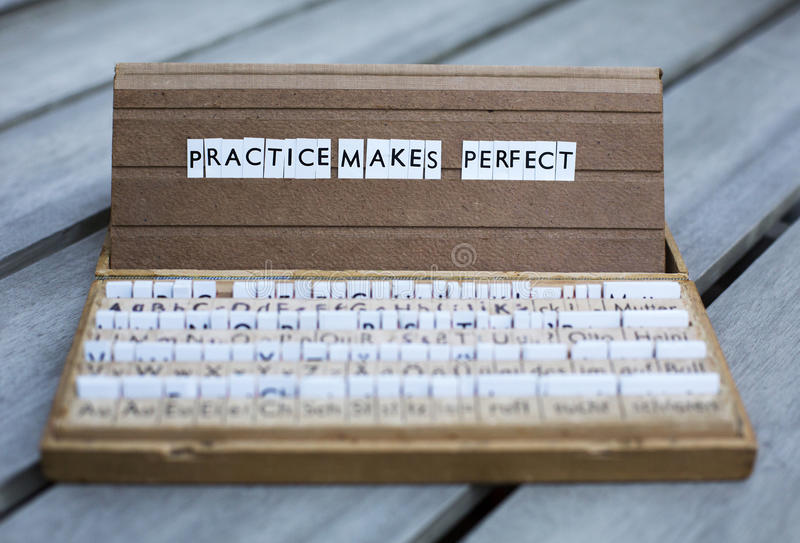 Practice makes perfect royalty free stock images