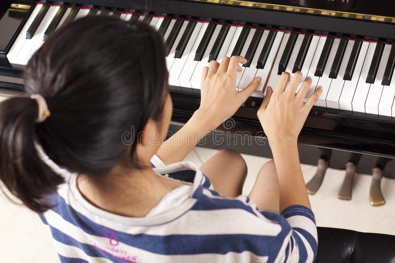 Download Practice piano stock photo. Image of beautiful, cute - 21131710