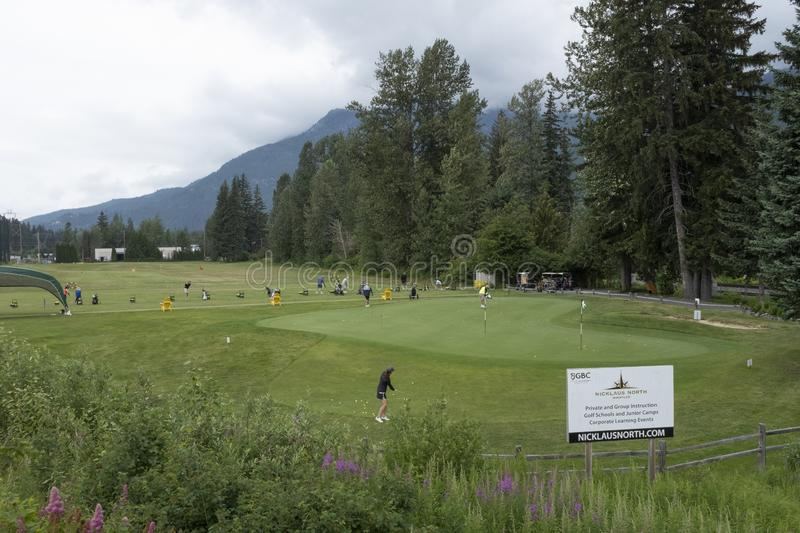 Niklaus North golf course near Whistler, BC stock images