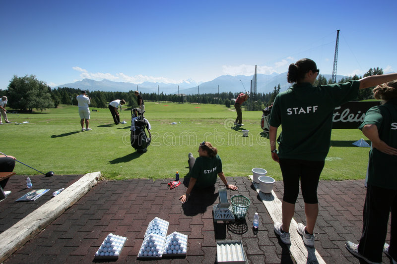 Download Practice Staff In Crans-montana Golf Masters Editorial Photography - Image of drive, competition: 6299132
