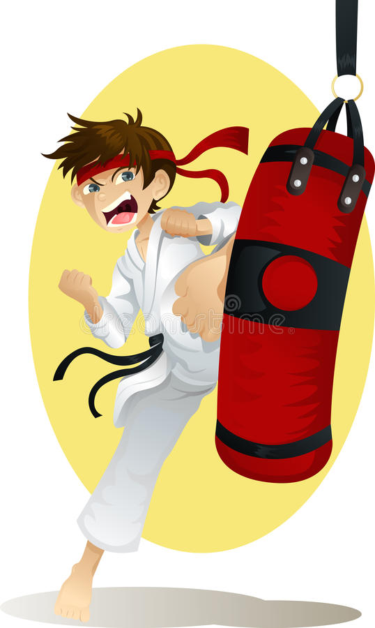 Download Practicing karate stock vector. Image of illustration - 19393285