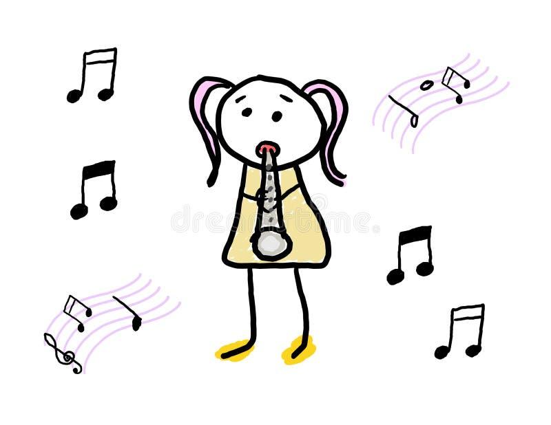 Practicing Music royalty free illustration