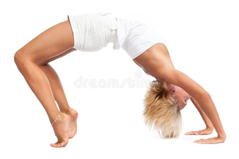 Practicing Yoga stock photography