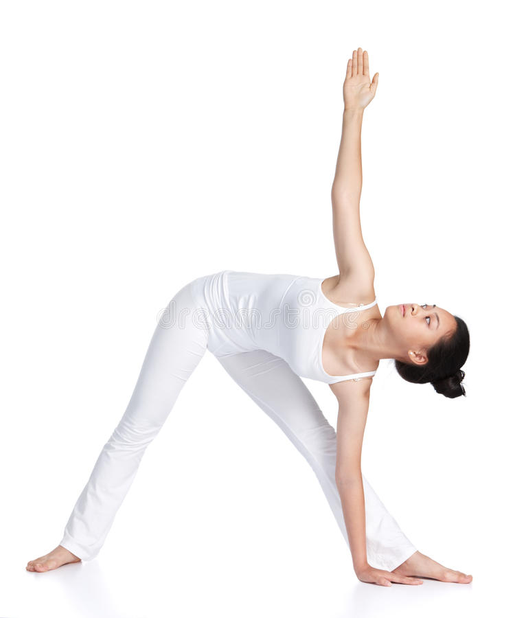 Download Practicing yoga stock image. Image of isolated, action - 24412807