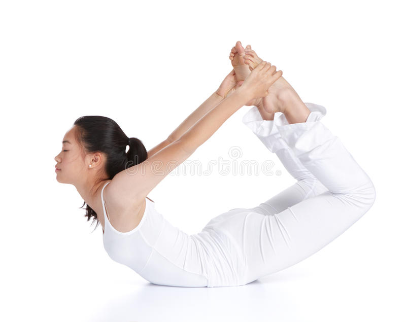 Download Practicing yoga stock image. Image of dhanurasana, being - 24412855