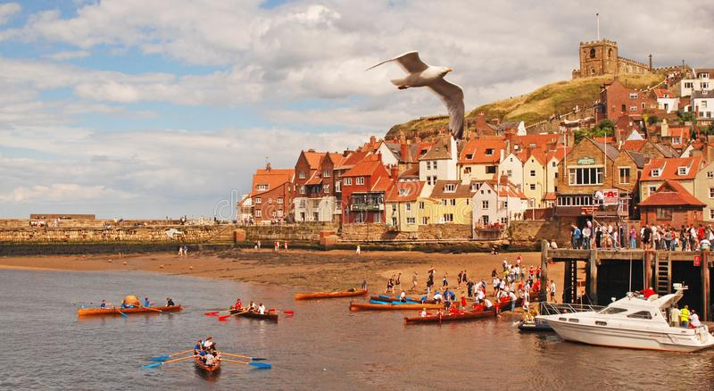 Practising for the Regatta at Whitby royalty free stock photos
