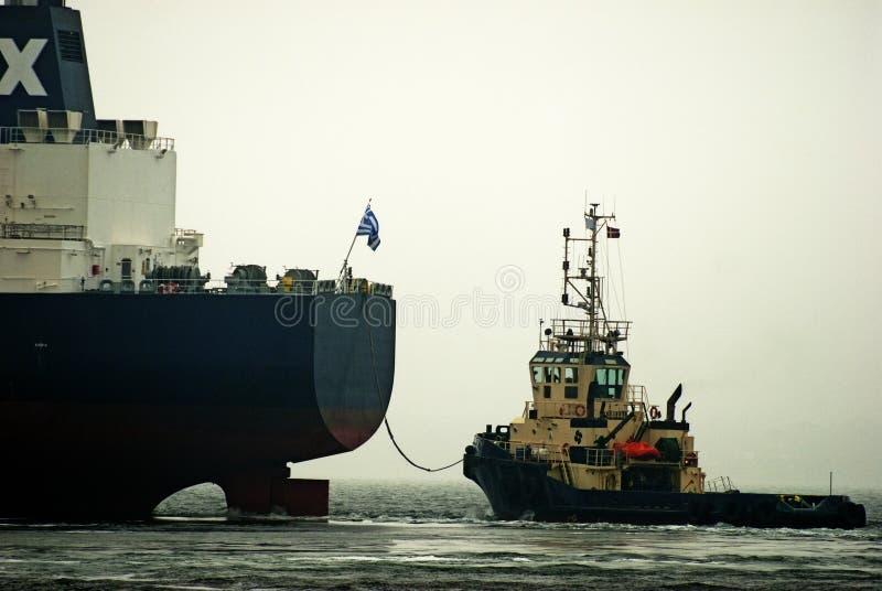 Pracująca holownik łódź fotografia royalty free